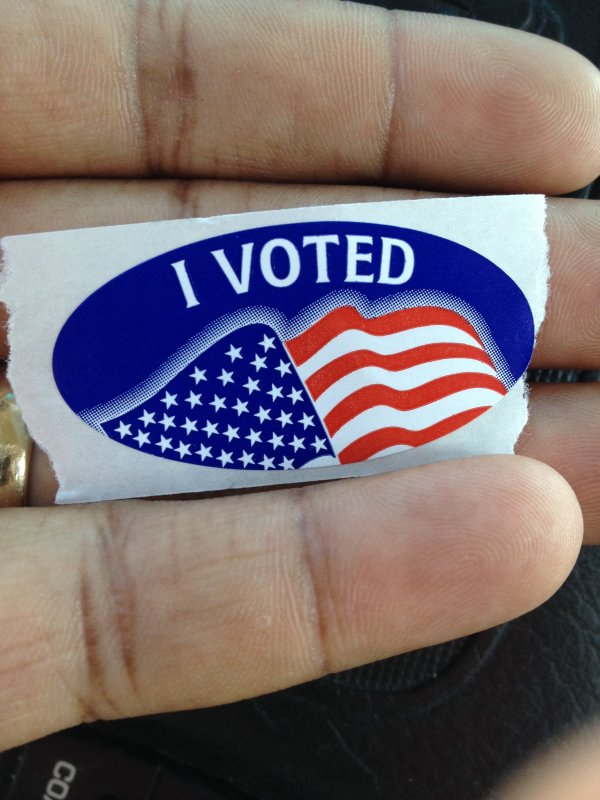 I Voted: Local Democratic Primary